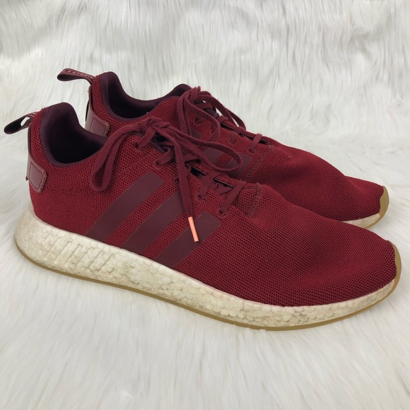 adidas Shoes   Boost Dark Red Sneakers